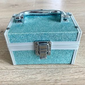 NWOT Blue Glitter Jewelry Box